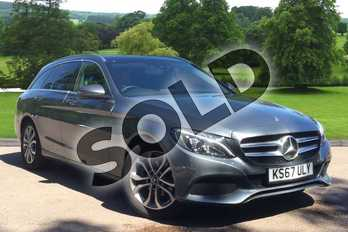 Mercedes-Benz C Class C200d Sport Premium 5dr Auto in Selenite Grey metallic at Mercedes-Benz of Grimsby