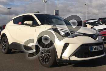 Toyota C-HR 1.8 Hybrid Excel 5dr CVT in White at Listers Toyota Lincoln