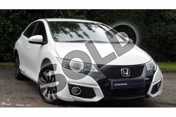Honda Civic 1.8 i-VTEC SE Plus 5dr  in White Orchid at Listers Honda Coventry