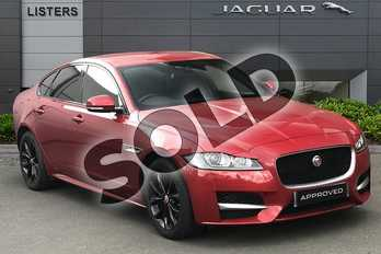 Jaguar XF 2.0d (180) R-Sport 4dr Auto in Firenze Red at Listers Jaguar Droitwich