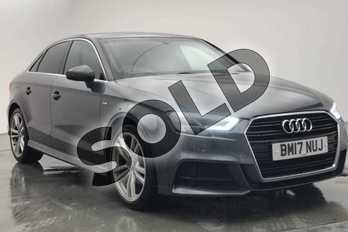 Audi A3 1.5 TFSI S Line 4dr S Tronic in Daytona Grey Pearlescent at Worcester Audi