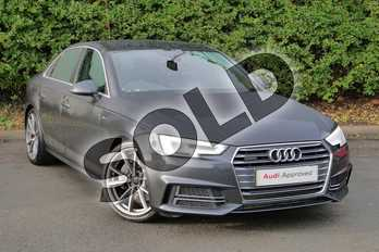 Audi A4 Diesel 3.0 TDI 272 Quattro S Line 4dr Tip Tronic in Manhattan Grey Metallic at Worcester Audi