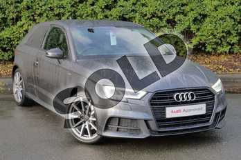 Audi A3 1.4 TFSI S Line 3dr in Daytona Grey Pearlescent at Worcester Audi