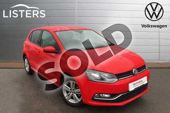 Volkswagen Polo 1.0 75 Match 5dr in Flash Red at Listers Volkswagen Worcester