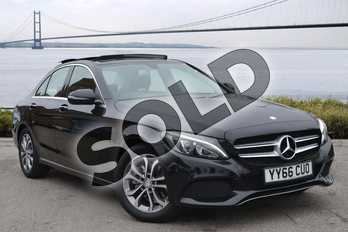 Mercedes-Benz C Class Diesel C220d Sport Premium 4dr Auto in Obsidian Black Metallic at Mercedes-Benz of Hull