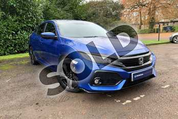 Honda Civic 1.5 VTEC Turbo Sport 5dr in Brilliant Sporty Blue at Listers Honda Coventry