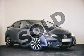 Honda Civic 1.8 i-VTEC SR 5dr Auto  in Twilight Blue at Listers Honda Stratford-upon-Avon