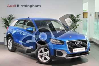 Audi Q2 30 TDI Sport 5dr in Ara Blue Crystal Effect at Birmingham Audi
