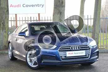 Audi A5 Diesel 2.0 TDI Ultra S Line 2dr S Tronic in Scuba Blue Metallic at Coventry Audi