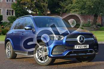 Mercedes-Benz GLE Diesel GLE 300d 4Matic AMG Line Prem Plus 5dr 9G-Tronic in brilliant blue metallic at Mercedes-Benz of Lincoln