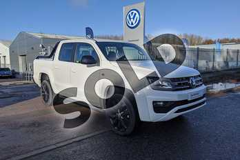 Volkswagen Amarok D/Cab Pick Up Black Ed 3.0 V6 TDI 204 BMT 4M Auto in Candy White at Listers Volkswagen Van Centre Worcestershire