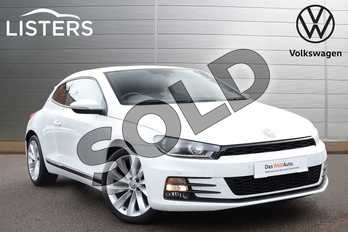 Volkswagen Scirocco 2.0 TSI BlueMotion Tech GT 3dr DSG in Pure white at Listers Volkswagen Coventry