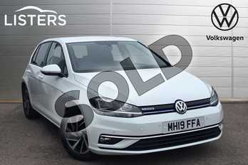 Volkswagen Golf 1.5 TSI EVO Match 5dr in Pure white at Listers Volkswagen Coventry