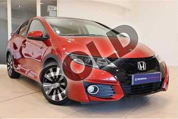 Honda Civic 1.8 i-VTEC SR 5dr Auto  in Passion Red at Listers Honda Solihull
