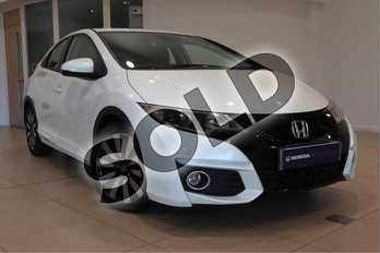 Honda Civic 1.8 i-VTEC SE Plus 5dr in White Orchid at Listers Honda Solihull