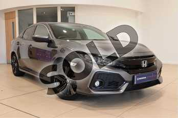 Honda Civic 1.0 VTEC Turbo EX 5dr CVT in Polished Metal at Listers Honda Solihull