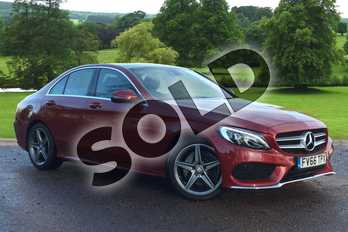 Mercedes-Benz C Class C220d AMG Line 4dr in designo Hyacinth Red Metallic at Mercedes-Benz of Grimsby
