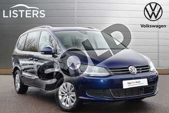 Volkswagen Sharan 2.0 TDI CR BlueMotion Tech 150 SE Nav 5dr in Atlantic Blue at Listers Volkswagen Leamington Spa