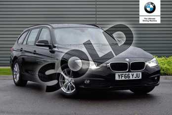 BMW 3 Series Diesel Touring 320d EfficientDynamics Plus 5dr Step Auto in Jet Black at Listers Boston (BMW)