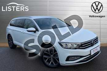Volkswagen Passat 1.5 TSI EVO SEL 5dr in Pure White at Listers Volkswagen Leamington Spa