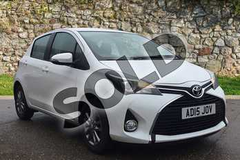 Toyota Yaris 1.33 VVT-i Icon 5dr in White at Listers Toyota Boston