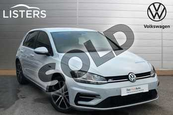 Volkswagen Golf 2.0 TDI R-Line 5dr DSG in White Silver at Listers Volkswagen Loughborough