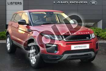 Range Rover Evoque Diesel 2.0 TD4 SE Tech 5dr Auto in Firenze Red at Listers Land Rover Droitwich