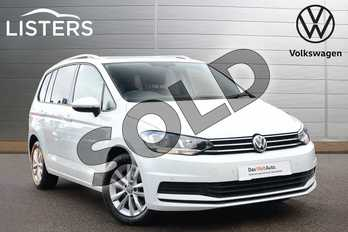 Volkswagen Touran 2.0 TDI SE Family 5dr in Pure white at Listers Volkswagen Coventry