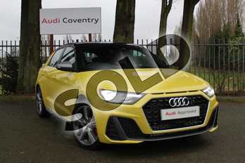 Audi A1 40 TFSI S Line Competition 5dr S Tronic in Python Yellow Metallic at Coventry Audi