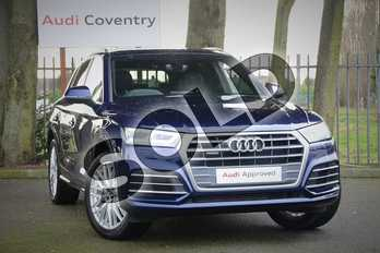 Audi Q5 2.0T FSI Quattro S Line 5dr S Tronic in Navarra Blue Metallic at Coventry Audi