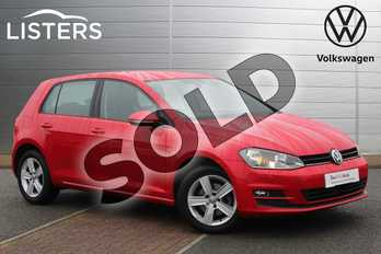 Volkswagen Golf 1.4 TSI Match 5dr in Tornado Red at Listers Volkswagen Nuneaton