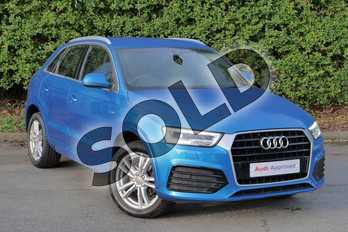 Audi Q3 1.4T FSI S Line 5dr in Hainan blue, metallic at Worcester Audi