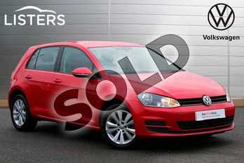 Volkswagen Golf 1.6 TDI 105 SE 5dr in Tornado Red at Listers Volkswagen Nuneaton
