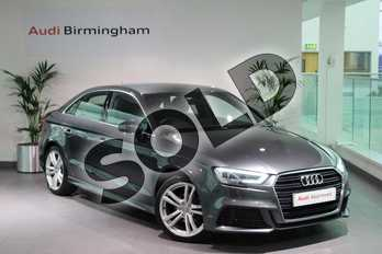 Audi A3 1.4 TFSI S Line 4dr S Tronic in Daytona Grey Pearlescent at Birmingham Audi