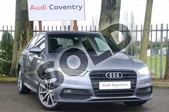 Audi A3 1.4 TFSI 125 S Line 3dr (Nav) in Monsoon Grey Metallic at Coventry Audi