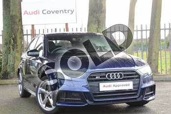 Audi A3 Special Editions S3 TFSI Quattro Black Edition 5dr S Tronic in Navarra Blue Metallic at Coventry Audi
