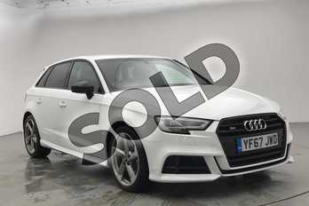 Audi A3 Special Editions S3 TFSI Quattro Black Edition 5dr S Tronic in Ibis White at Coventry Audi