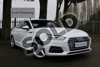 Audi A5 40 TDI Quattro Sport 2dr S Tronic in Ibis White at Coventry Audi