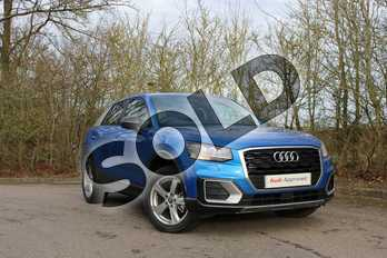 Audi Q2 30 TDI Sport 5dr in Ara Blue Crystal Effect at Coventry Audi