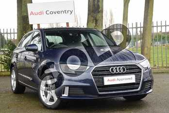 Audi A3 1.0 TFSI Sport 5dr S Tronic in Cosmos blue, metallic at Coventry Audi
