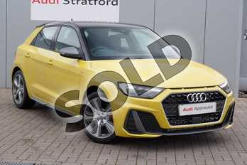 Audi A1 40 TFSI S Line Competition 5dr S Tronic in Python Yellow Metallic at Stratford Audi