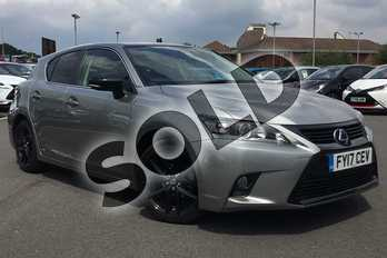 Lexus CT 200h 1.8 Sport 5dr CVT Auto in 2 Tone Sonic Titanium/black at Lexus Lincoln