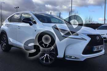 Lexus NX 300h 2.5 F-Sport 5dr CVT in F Sport White at Lexus Lincoln