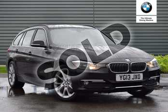 BMW 3 Series Diesel Touring 318d Luxury 5dr Step Auto in Black Sapphire metallic paint at Listers Boston (BMW)