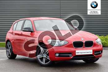 BMW 1 Series 114i Sport 5dr in Crimson Red at Listers Boston (BMW)