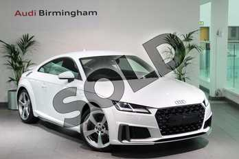Audi TT 45 TFSI S Line 2dr in Glacier White Metallic at Birmingham Audi