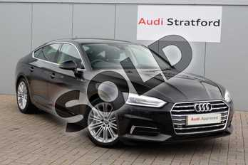 Audi A5 40 TDI Sport 5dr S Tronic in Myth Black Metallic at Stratford Audi