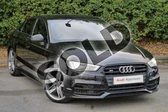 Audi A3 S3 TFSI Quattro 4dr S Tronic in Panther Black, crystal effect at Worcester Audi