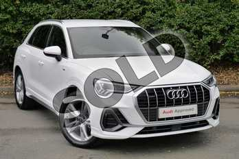 Audi Q3 35 TFSI S Line 5dr in Ibis White at Worcester Audi