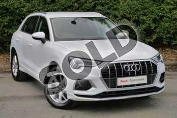 Audi Q3 35 TFSI Sport 5dr in Glacier White Metallic at Worcester Audi